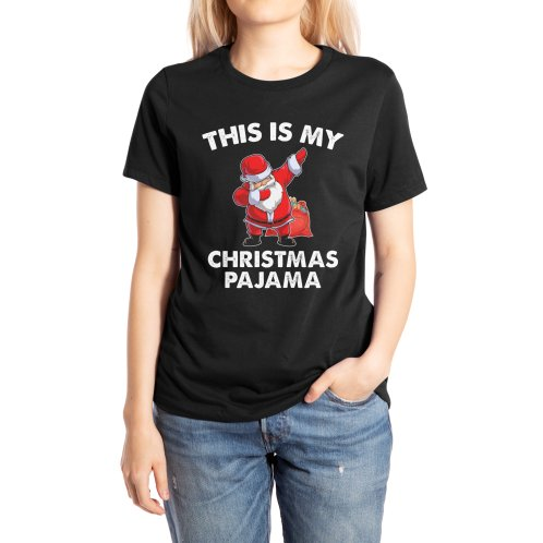 image for Santa Dabbing Pajamas Christmas Famlily T-shirt