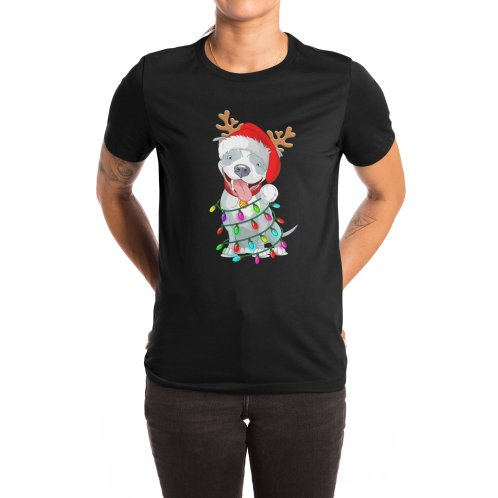 image for Pitbull Christmas Tree T-shirt For Men Women KId Pitbull Lover