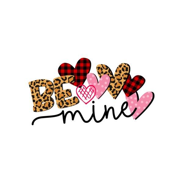 image for Be Mine Valentine Buffalo Leopard Heart Print