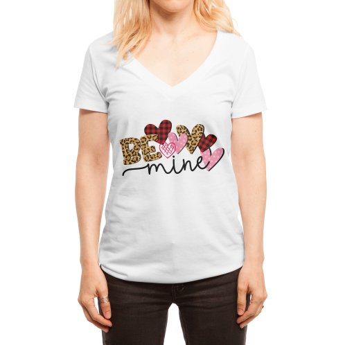 image for Be Mine Valentine Buffalo Leopard Heart Print