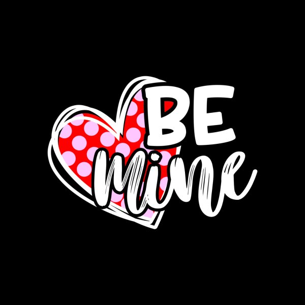 image for Be Mine Valentine With Heart Cute Gift For Sweetheart