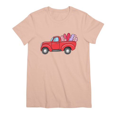 image for Valentine Truck Carrying LOVE Balloon T-shirt