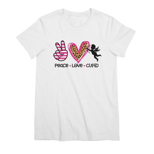 image for Peace Love Cupid Valentine T-shirt