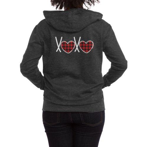 image for Valentine Buffalo Paid Xoxo Heart T-shirt