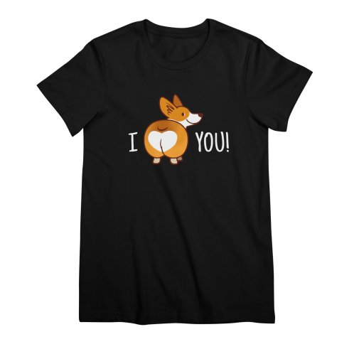 image for I love You Corgi Butt Valentine T-shirt