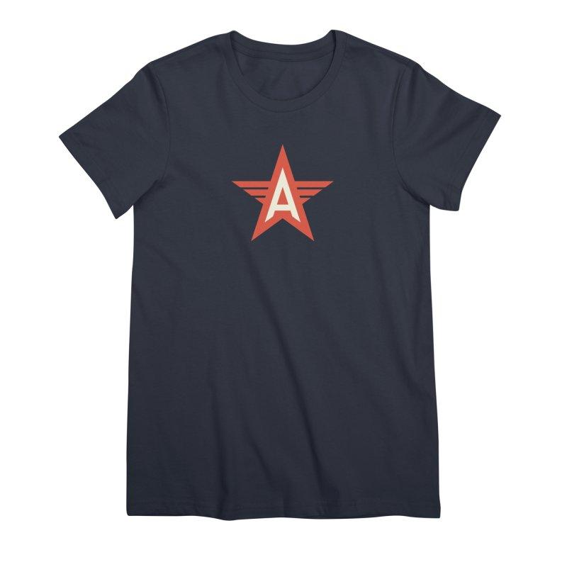 Actionhero Logo Women's Premium T-Shirt by Actionhero Swag!