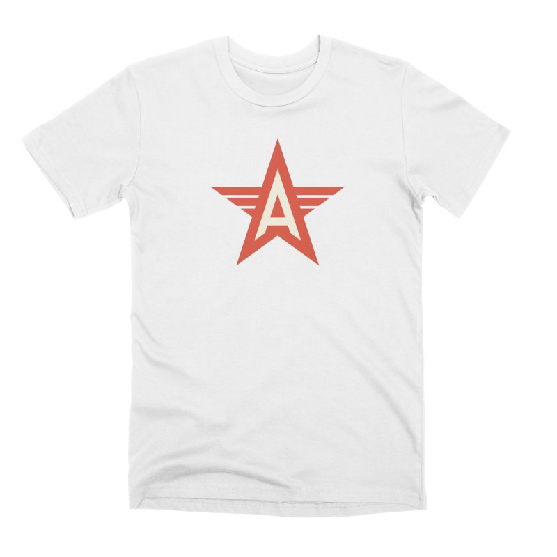 Actionhero Logo in Men's Premium T-Shirt White by Actionhero Swag!