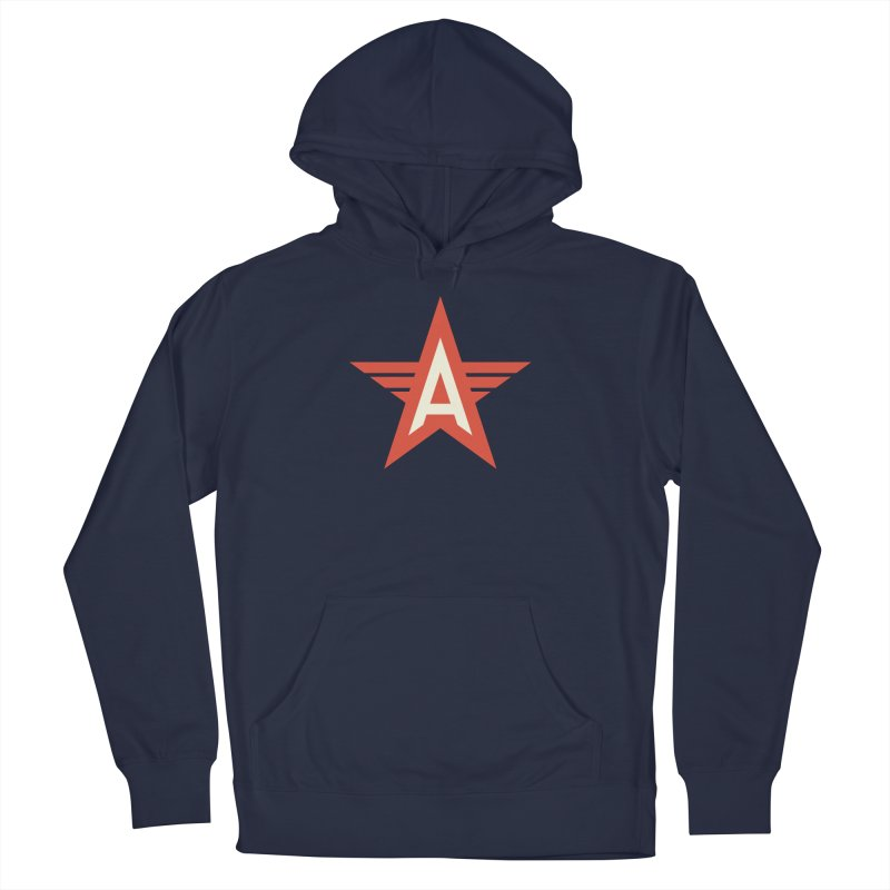 Actionhero Logo in Men's French Terry Pullover Hoody Navy by Actionhero Swag!