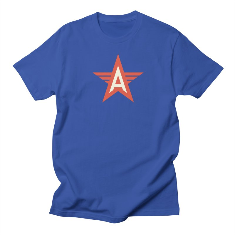 Actionhero Logo in Men's Regular T-Shirt Royal Blue by Actionhero Swag!