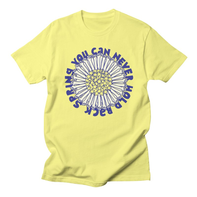 You Can Never Hold Back Spring in Men's Regular T-Shirt Lemon by Active Ink