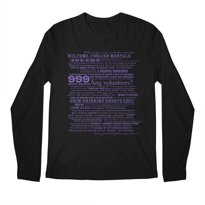 I am your Host, your Ghost Host... (Dark) Men's Longsleeve T-Shirt by actualchad's Artist Shop