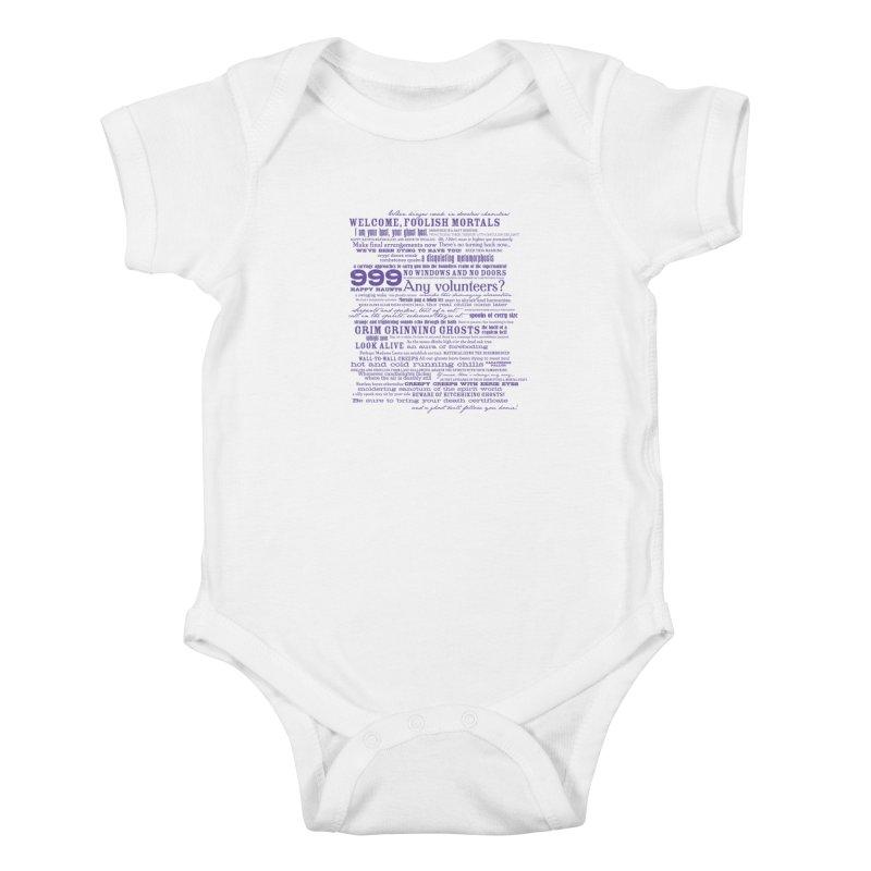 I am your Host, your Ghost Host... (Dark) Kids Baby Bodysuit by actualchad's Artist Shop