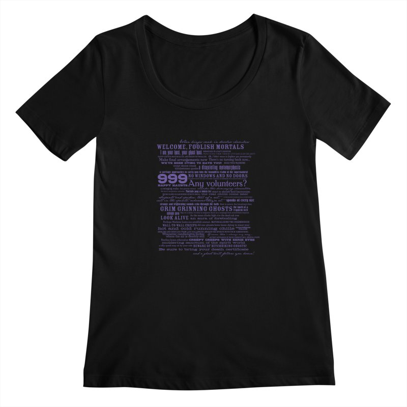 I am your Host, your Ghost Host... (Dark) Women's Scoopneck by actualchad's Artist Shop