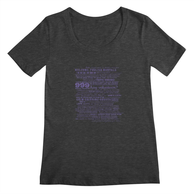 I am your Host, your Ghost Host... (Dark) Women's Scoopneck by actualchad's Artist Shop