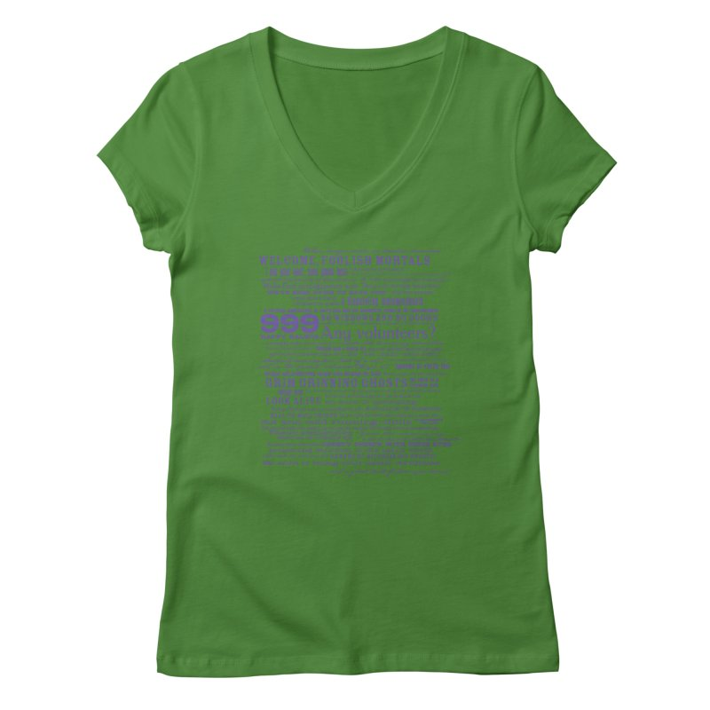 I am your Host, your Ghost Host... (Dark) Women's V-Neck by actualchad's Artist Shop