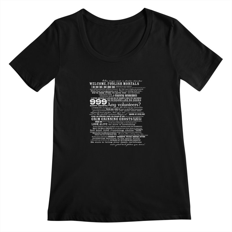 I am your Host, your Ghost Host... (Light) Women's Scoopneck by actualchad's Artist Shop