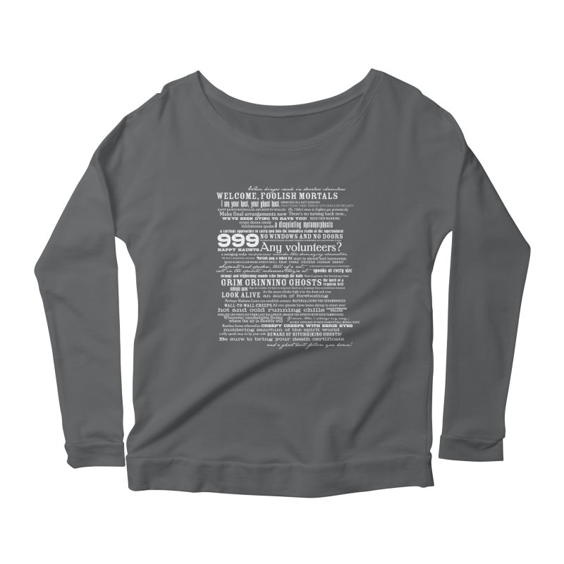 I am your Host, your Ghost Host... (Light) Women's Longsleeve Scoopneck  by actualchad's Artist Shop