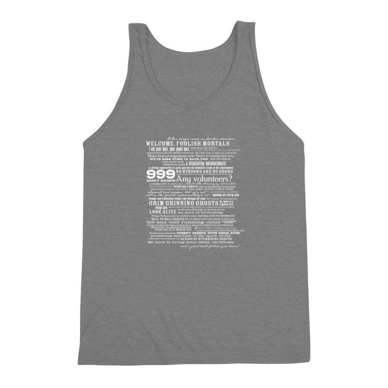 I am your Host, your Ghost Host... (Light) Men's Triblend Tank by actualchad's Artist Shop