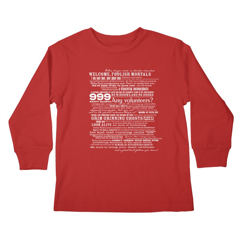I am your Host, your Ghost Host... (Light) Kids Longsleeve T-Shirt by actualchad's Artist Shop