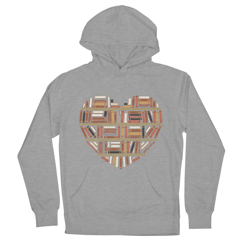 I Heart Books Men's Pullover Hoody by ACWE Artist Shop