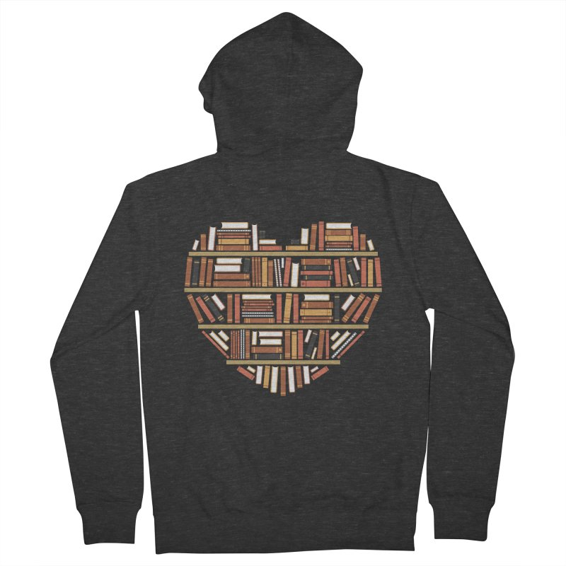I Heart Books Men's Zip-Up Hoody by ACWE Artist Shop