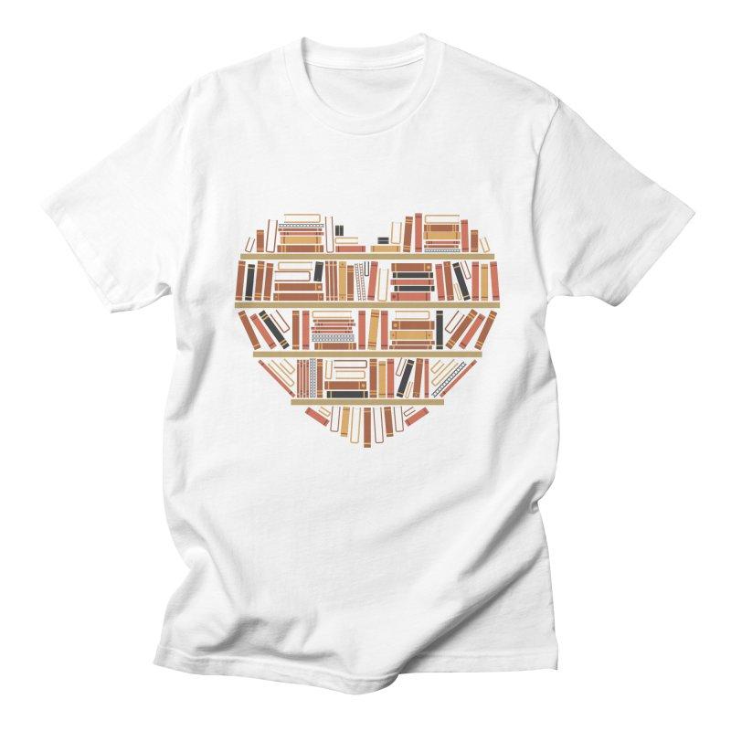 I Heart Books Men's T-Shirt by ACWE Artist Shop