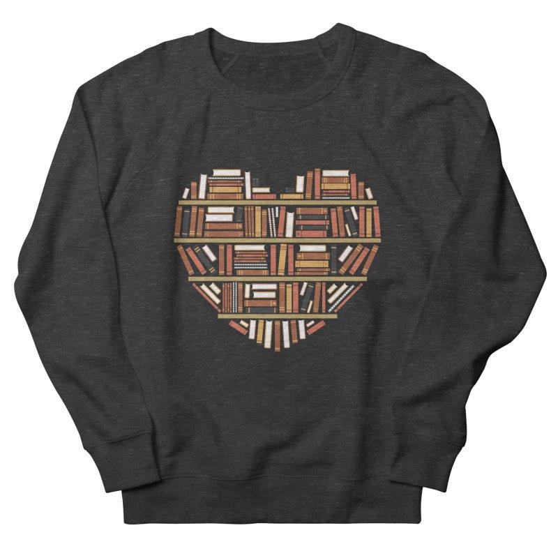 I Heart Books Men's Sweatshirt by ACWE Artist Shop