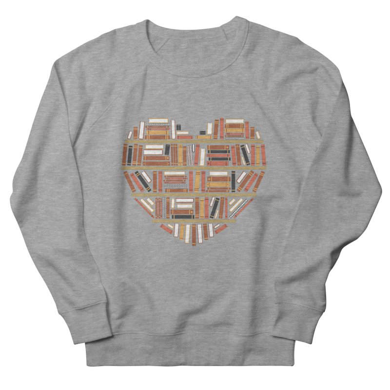 I Heart Books Men's Sweatshirt by ACWE Artist Shop