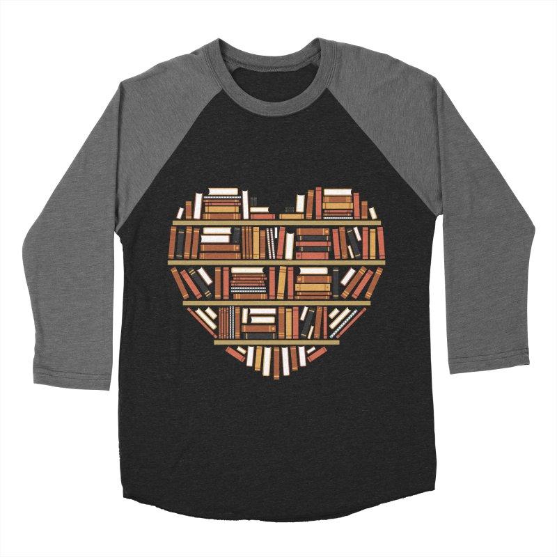 I Heart Books Women's Baseball Triblend T-Shirt by ACWE Artist Shop