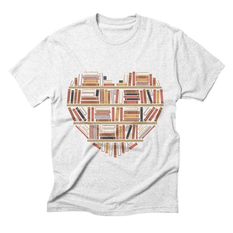 I Heart Books Men's Triblend T-shirt by ACWE Artist Shop
