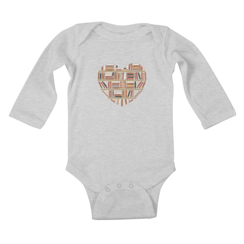 I Heart Books Kids Baby Longsleeve Bodysuit by ACWE Artist Shop