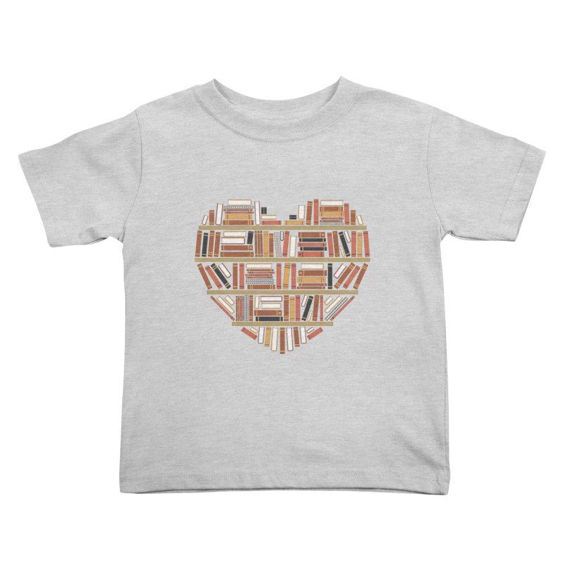 I Heart Books Kids Toddler T-Shirt by ACWE Artist Shop