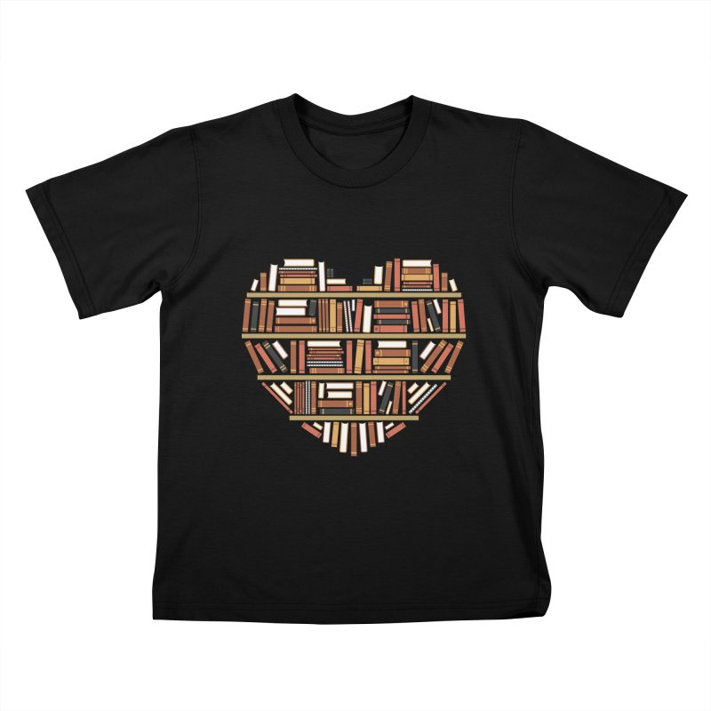 I Heart Books Kids T-Shirt by ACWE Artist Shop