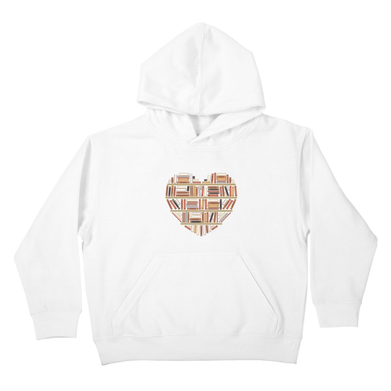 I Heart Books Kids Pullover Hoody by ACWE Artist Shop