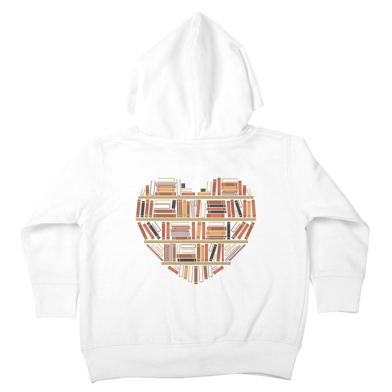 I Heart Books Kids Toddler Zip-Up Hoody by ACWE Artist Shop