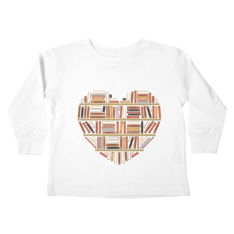 I Heart Books Kids Toddler Longsleeve T-Shirt by ACWE Artist Shop