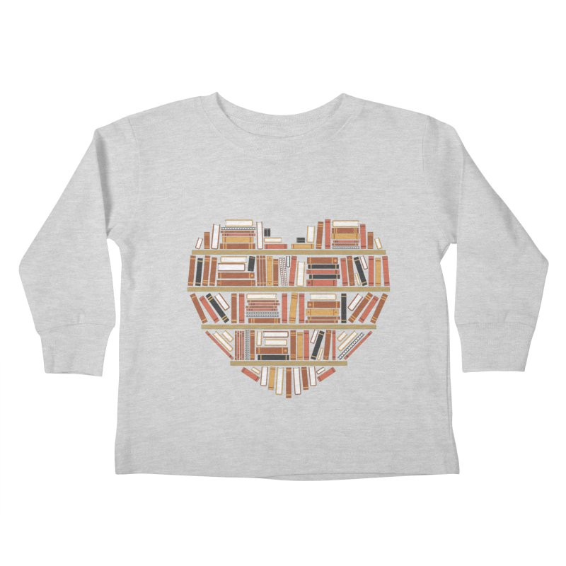 I Heart Books Kids Toddler Longsleeve T-Shirt by ACWE Artist Shop