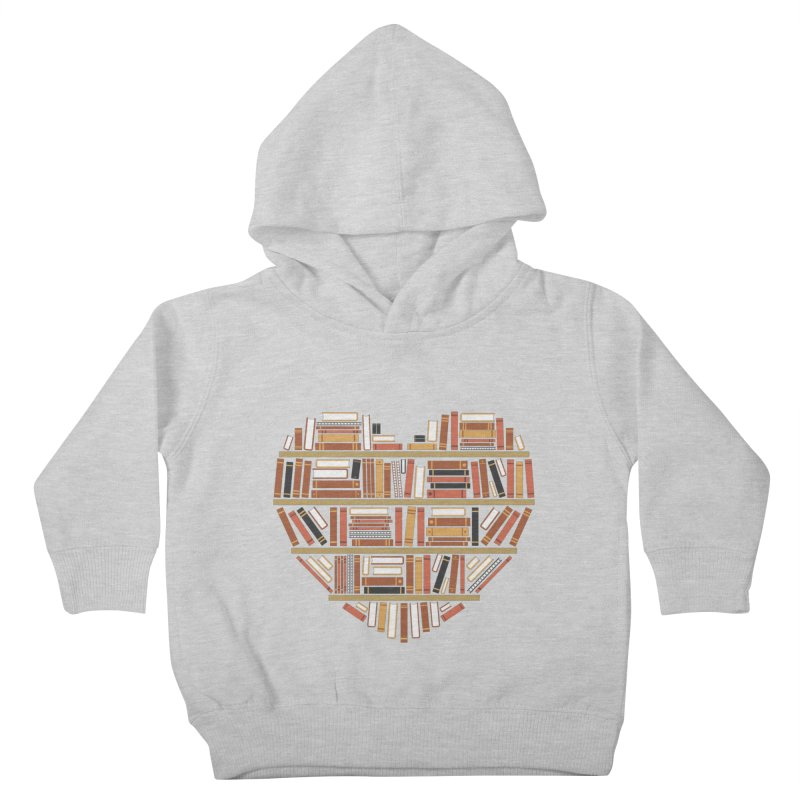 I Heart Books Kids Toddler Pullover Hoody by ACWE Artist Shop