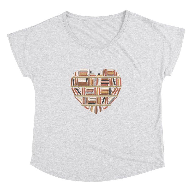 I Heart Books Women's Dolman by ACWE Artist Shop