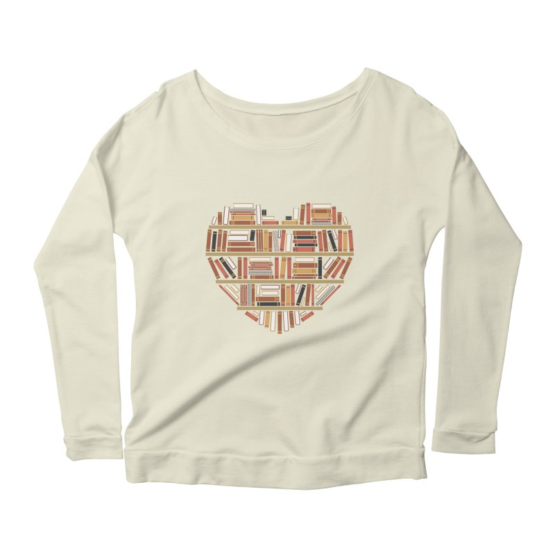 I Heart Books Women's Longsleeve Scoopneck  by ACWE Artist Shop