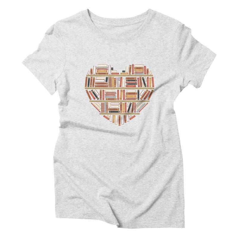 I Heart Books Women's Triblend T-shirt by ACWE Artist Shop