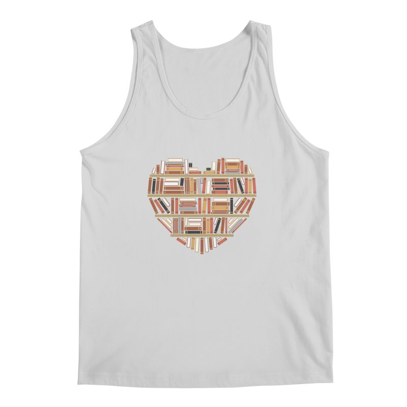 I Heart Books Men's Tank by ACWE Artist Shop