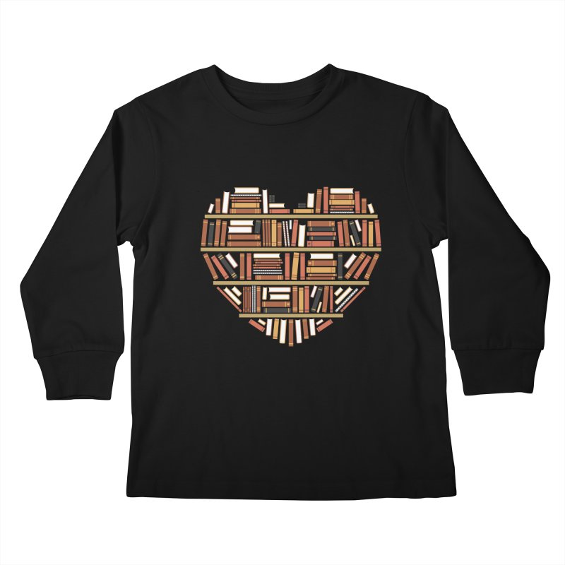 I Heart Books Kids Longsleeve T-Shirt by ACWE Artist Shop