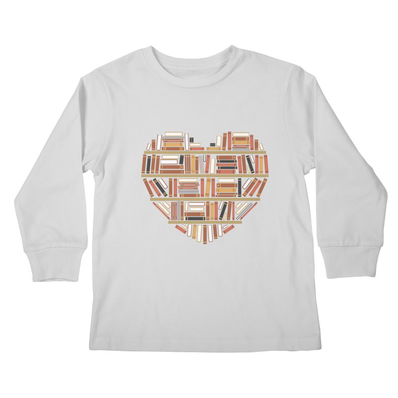 I Heart Books Kids Longsleeve T-Shirt by ACWE Artist Shop