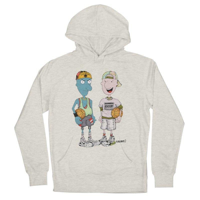 White Cartoons Can't Jump Men's Pullover Hoody by Adam Ballinger Artist Shop