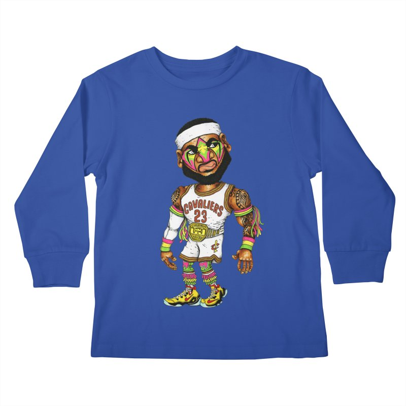 Lebrontimate Warrior Kids Longsleeve T-Shirt by Adam Ballinger Artist Shop
