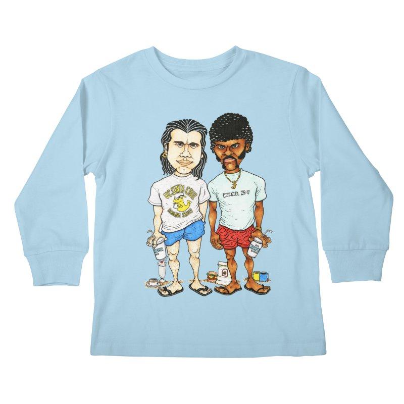 Royals With Cheese Kids Longsleeve T-Shirt by Adam Ballinger Art