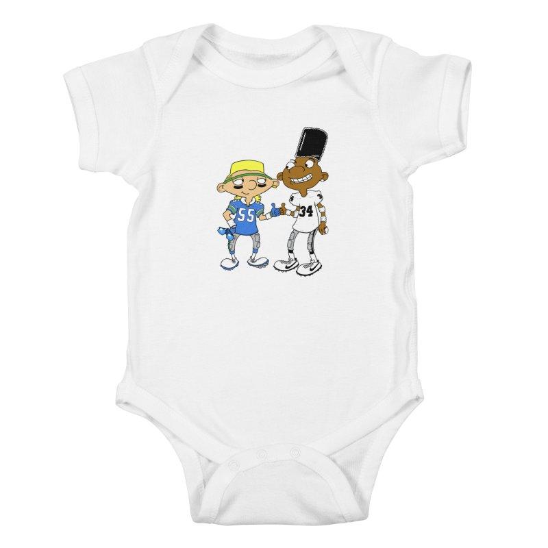 Hey Bo n' Boz Kids Baby Bodysuit by Adam Ballinger Art