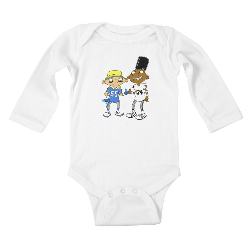 Hey Bo n' Boz Kids Baby Longsleeve Bodysuit by Adam Ballinger Artist Shop