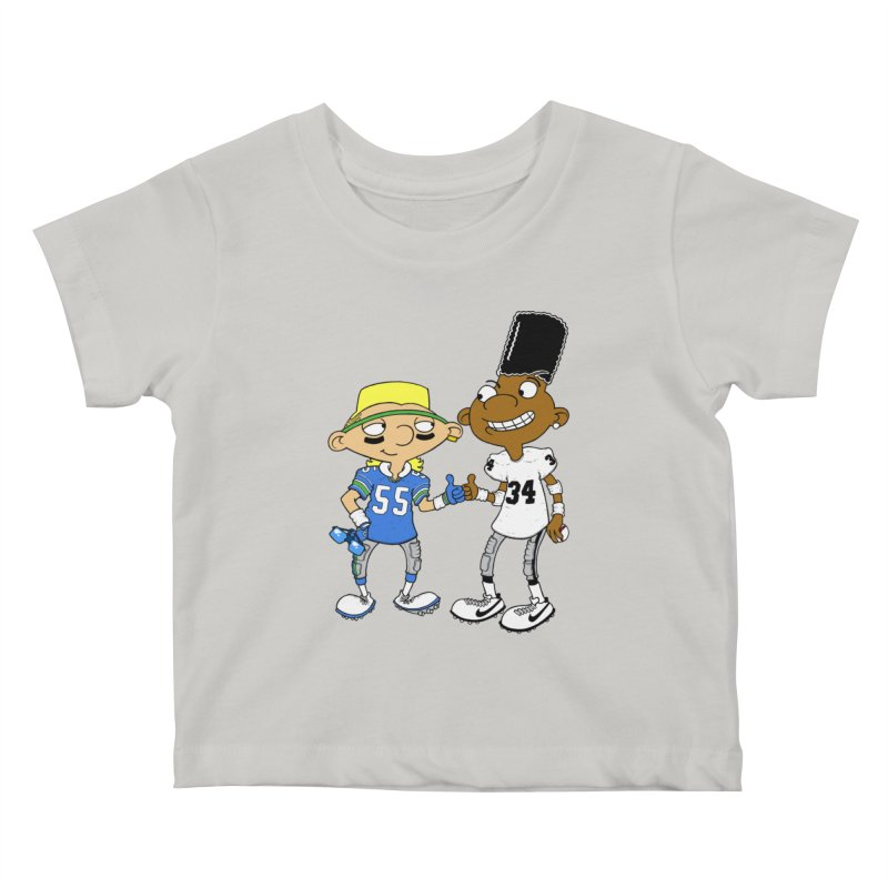 Hey Bo n' Boz Kids Baby T-Shirt by Adam Ballinger Art